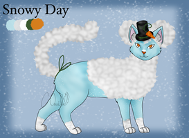 AFRO CAT ADOPT: Snowy Day [CLOSED] by ChocolateQuill