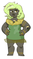 green/gold smokey quartz by ScarletCerebrum