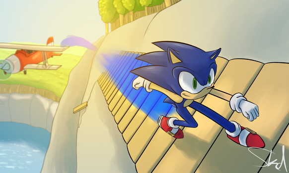 Sonic thing by Sonikkudrawings