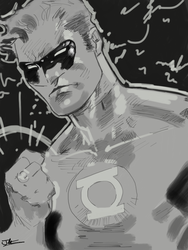 Green Lantern iPad by JimOfRapture