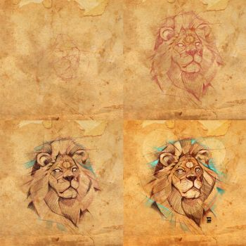 20170721 Lion Steps Psdelux by psdeluxe