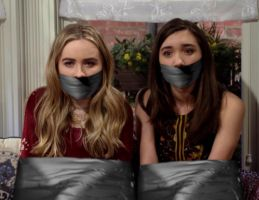 Sabrina and Rowan Tape Bound and Gagged by Goldy0123