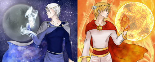 The Sun and the Moon by IcyPheonix