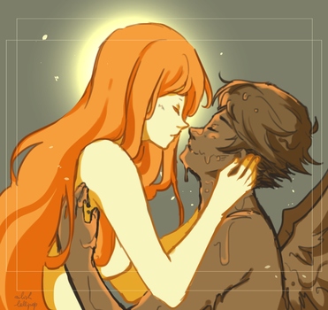 Icarus and the Sun by Ailish-Lollipop