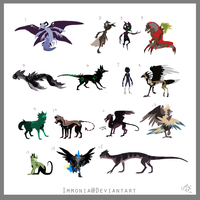 Left Over Adopts 12 [Point Option Included!] by Adopt-Monstar