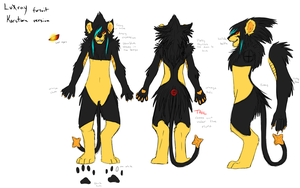Luxray fursuit ref by FreesthatHD