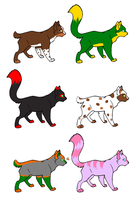Cat Adoptables Batch 1 by laura069