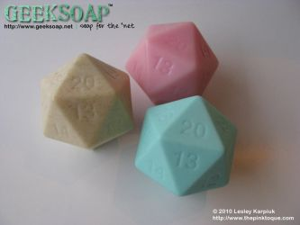 D20 3-Dimensional GEEKSOAP by pinktoque