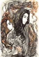 twin dragon by sweet-osmanthus