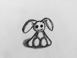 Creepy Bunny by Echos-in-the-Shadows