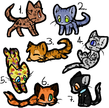 7 Cat Adoptables 1 by GrelliamFanRBLX