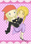 Chibi Edward and Winry by NekoSasukeGirl