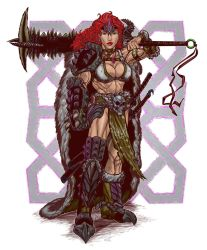 Red Headed Warrior Barbarian Badass. by WEXAL