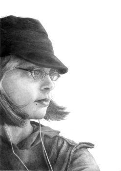 Graphite self portrait by thecory