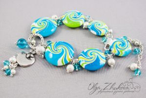 Bracelet from polymer clay by polyflowers