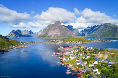 Reine from Above by Dave-Derbis