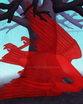 Illustration Scarlet Ibis 2 by digital-blood