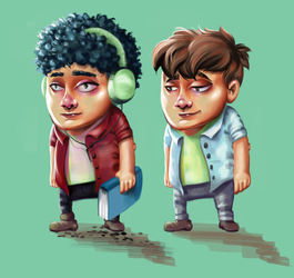 Character design by weroni