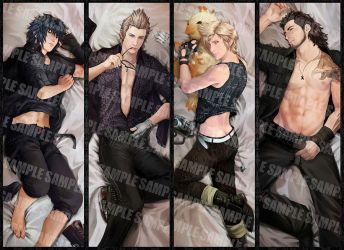 FFXV dakimakura design by Brilcrist