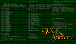 Wallpaper Geek Ancient by Mergorti