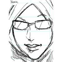 Character sketch - Renbo/Yasmin for Ingress GO by real-hybridjunkie