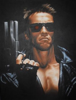 The Terminator Acrylic Painting by JonARTon
