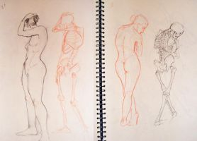 Old Skool - life drawing 2 by WesleyRiot