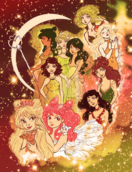 Sailor Scouts in Space by Eridanis-Requiem