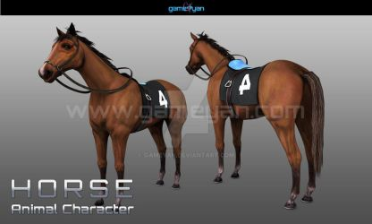 3D Horse Animal Character Modelling With GameYan by gameyan