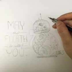 May the Fourth be with You (2016) BB8 by iamscratch