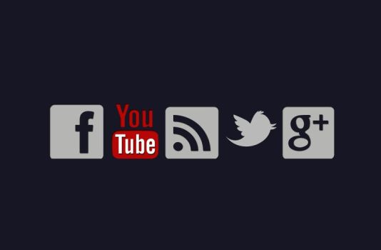 Social Network Icons CSS Sprites by flankerAD