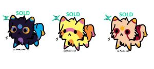 Colourful Cat Designs! -- SOLD!! by Griffkat