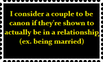 My opinion on what makes couples 'canon' by ShadowGirl7