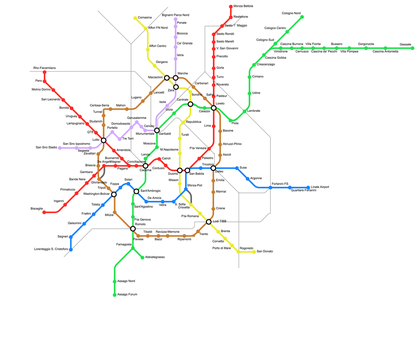 Future Metro Lines in Milan by Dom-Bul