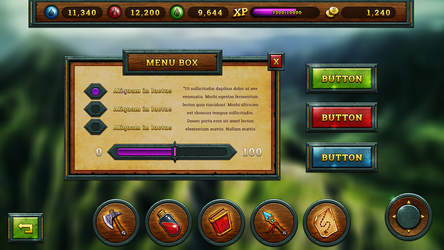 Conseptual Game UI - Tablet by ChristianKarling