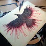 Bloody Crow - Print! by AtomiccircuS