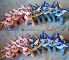 Vaporeons (up for sale) by Rens-twin