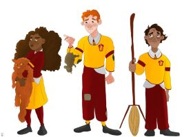 Golden Trio - Character Design by Giorgia99