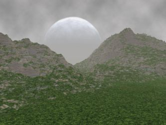 Foggy Moon Mountain by jaymoon85