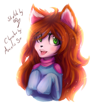 Sketch Trade Made with love by fangirl-sonicteam