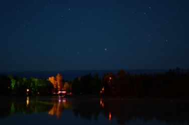 Night shot of Nellie Lake by Anya-Hildebrandt