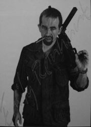 What'ya Mean... - Charcoal Dry-Painting by TreeClimber