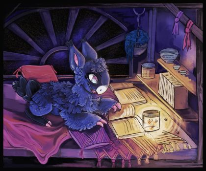 Late night reading by CapeClawless