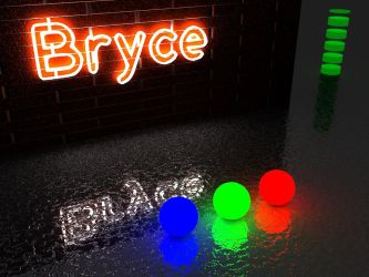 Test Bryce - luminous objects 2... by GabrielM1968