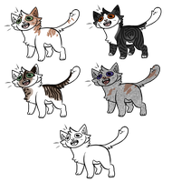 OPEN Cat Adoptables 2! by LillyofIndominus