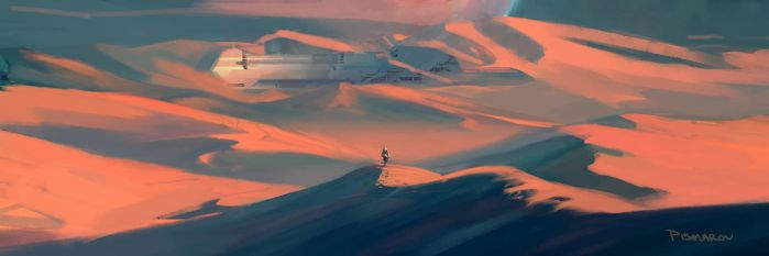 Desert Environment Color Concept Num. 2 by AnthonyPismarov