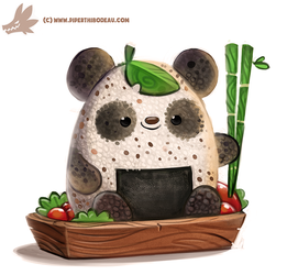 Daily Paint #1157. Rice Ball Panda by Cryptid-Creations