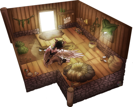 Hashas Hut Interior by SlayersStronghold