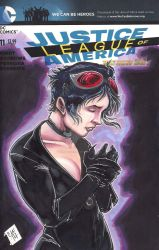 Justice League Catwoman Sketch Cover Chris Foreman by chris-foreman
