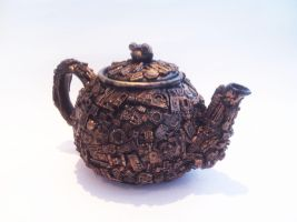 Steampunk Teapot by richardsymonsart